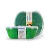 plastic containers: Preserve - Square Food Storage Set - Green - Set of 2