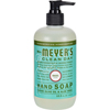 soaps and hand sanitizers: Mrs. Meyer's - Liquid Hand Soap - Basil - 12.5 oz