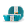 Preserve Small Square Food Storage Container - Aqua - 2 Pack HGR 1211820