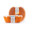Preserve Small Square Food Storage Container - Orange- 2 Pack HGR 1211838