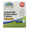 cleaning chemicals, brushes, hand wipers, sponges, squeegees: If You Care - Automatic Dishwasher Tabs - 40 Count - Case of 8