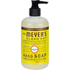 soaps and hand sanitizers: Mrs. Meyer's - Liquid Hand Soap - Sunflower - Case of 6 - 12.5 fl oz