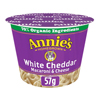 Annie's Homegrown White Cheddar Microwavable Macaroni and Cheese Cup - Case of 12 - 2.01 oz. HGR 1254853