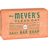soaps and hand sanitizers: Mrs. Meyer's - Bar Soap - Geranium - 5.3 oz - Case of 12