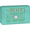 soaps and hand sanitizers: Mrs. Meyer's - Bar Soap - Basil - 5.3 oz - Case of 12