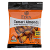 Eden Foods Organic Pocket Snacks - Tamari Almonds - Dry Roasted - 1 oz.. - Case of 12 HGR 1418904