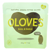 Oloves Green Pitted Olives - Basil and Garlic - Case of 10 - 1.1 oz.. HGR 1443191