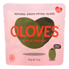 Oloves Green Pitted Olives - Chili and Oregano - Case of 10 - 1.1 oz.. HGR 1443209