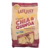 Late July Snacks Organic Tortilla Chips - Thin Multigrain - Case of 9 - 11 oz.. HGR 1513399