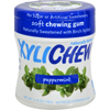 Xylichew Chewing Gum - Sugar Free Peppermint - 60 Piece Jar - Case of 4 HGR 1518067