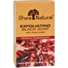 Shea Natural Black Soap - Shea Butter Exfoliating Midnight Pomegranate - 5 oz HGR 1518166