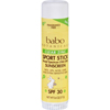 Babo Botanicals Clear Zinc Sport Stick - Unscented SPF 30 - .6 oz - Case of 12 HGR 1519206