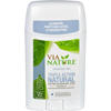 Via Nature Deodorant - Stick - Fragrance Free - 2.25 oz HGR 1533769