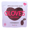 Oloves Green Pitted Olives - Chili and Garlic - Case of 10 - 1.1 oz.. HGR 1561117