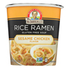 Dr. Mcdougall's Rice Noddle Asian Soup - Sesame Chicken - Case of 6 - 1.3 oz.. HGR 1561356