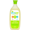 cleaning chemicals, brushes, hand wipers, sponges, squeegees: ecover - Liquid Dish Soap - Lime Zest - 25 oz - Case of 6
