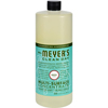 cleaning chemicals, brushes, hand wipers, sponges, squeegees: Mrs. Meyer's - Multi Surface Concentrate - Basil - 32 fl oz - Case of 6