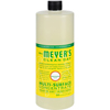 cleaning chemicals, brushes, hand wipers, sponges, squeegees: Mrs. Meyer's - Multi Surface Concentrate - Honeysuckle - 32 fl oz - Case of 6