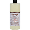 cleaning chemicals, brushes, hand wipers, sponges, squeegees: Mrs. Meyer's - Multi Surface Concentrate - Lavender - 32 fl oz - Case of 6