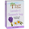soaps and hand sanitizers: Roots and Fruits - Bar Soap - Lavender and Chamomile - 5 oz