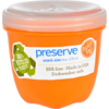 Clean and Green: Preserve - Food Storage Container - Round - Mini - Orange - 8 oz - 1 Count - Case of 12