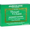cough drops: Jakemans - Lozenge - Throat and Chest - Peppermint - 24 Count - 1 Case