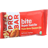 Probar Bite Organic Snack Bar - Peanut Butter Chocolate Chip - 1.62 oz Bars - Case of 12 HGR 1620780