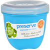 Clean and Green: Preserve - Food Storage Container - Round - Mini - Aqua - 8 oz - 1 Count