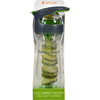 Full Circle Home Cucumber Water Bottle - Travel - Glass - Wherever Water - Gray - 20 oz HGR 1692557