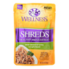 Wellness Pet Products Cat Food - Shreds Chicken and Turkey - Case of 24 - 3 oz.. HGR 1817626