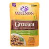 Wellness Pet Products Cat Food - Gravies with Bits of Chicken and Turkey Smothered In Gravy - Case of 24 - 3 oz.. HGR 1817667