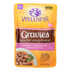 Wellness Pet Products Cat Food - Gravies with Bits of Tuna and Mackerel Smothered In Gravy - Case of 24 - 3 oz.. HGR 1817675