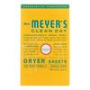 Mrs. Meyer's Clean Day - Dryer Sheets - Honeysuckle - Case of 12 - 80 sheets HGR 1826981
