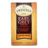 Twinings Tea Black Tea - Earl Grey Extra Bold - Case of 6 - 20 Count HGR 1840321