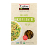 Explore Cuisine Organic Green Lentil Penne - Lentil Penne - Case of 6 - 8 oz. HGR 1860436