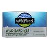 Wild Sardines - Skinless Boneless Fillets in Olive Oil - Case of 12 - 4.25 oz.