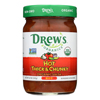 Drew's Organics Hot Thick and Chunky Salsa - 12 oz.. - Case of 6 HGR 1940451