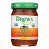 Drew's Organics Medium Thick and Chunky Salsa - 12 oz.. - Case of 6 HGR 1940543