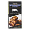 Ghirardelli Premium Baking Bar - 100% Cacao Unsweetened Chocolate - Case of 12 - 4 oz. HGR 2008845