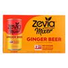 Zevia Zero Calorie Mixer - Ginger Beer - Case of 4 - 6/7.5 fl oz. HGR 2037158
