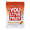 Organic Fruit Leather - Mango Coconut - Case of 12 - 1 oz..