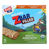 Clif Kid Zbar Filled Organic ZBar - Apple with Almond Butter - Case of 8 - 5/1.06 oz.. HGR 2106318