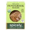 Spicely Organics Organic Fenugreek Seeds - Case of 6 - 0.45 oz.. HGR 2114734