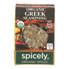Spicely Organics Organic Greek Seasoning - Case of 6 - 0.2 oz.. HGR 2115715