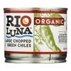 Rio Luna Large Chopped Green Chiles - Case of 12 - 7 oz. HGR 2119402