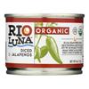 Rio Luna Organic Diced Jalapenos - Case of 12 - 4 oz. HGR 2119428