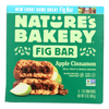 Nature's Bakery Stone Ground Whole Wheat Fig Bar - Apple Cinnamon - Case of 6 - 2 oz.. HGR 2135945