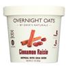 Dave's Gourmet Overnight Oats - Cinnamon Raisin - Case of 8 - 2.1 oz.. HGR 2166916