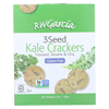 R. W. Garcia Flaxseed, Sesame And Chia 3 Seed Kale Crackers - Case of 6 - 6.5 oz. HGR 2174324