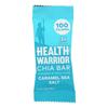 Health Warrior Chia Bar - Caramel Sea Salt - Case of 15 - .88 oz. HGR 2188910